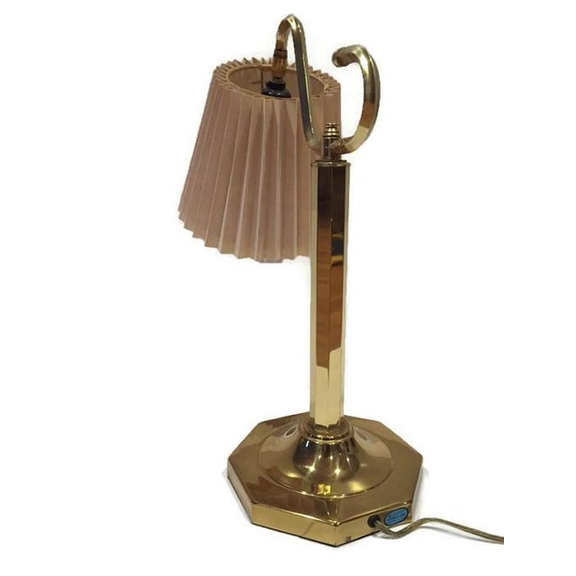 Image of Vintage Modern Brass Desk Lamp