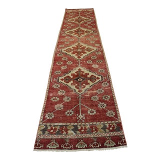 "Vintage Turkish Anatolian Runner - 2'10"" X 13'"