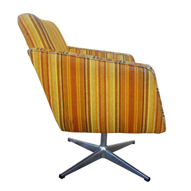 Image of Petite Mod Striped Swivel Chair