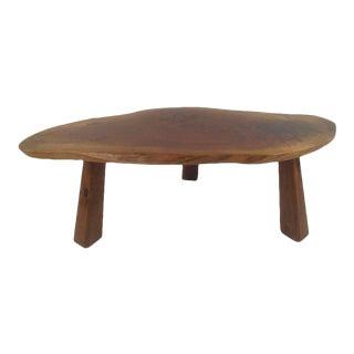 Unique Vintage Modern Tree Slab Coffee Table