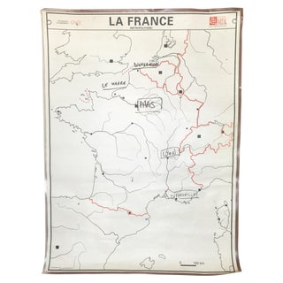 Vintage French Two-Sided Poster of Europe & France