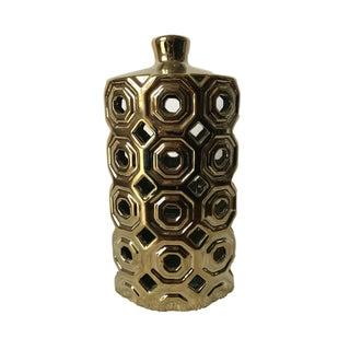 Modern Gold Cutout Vase