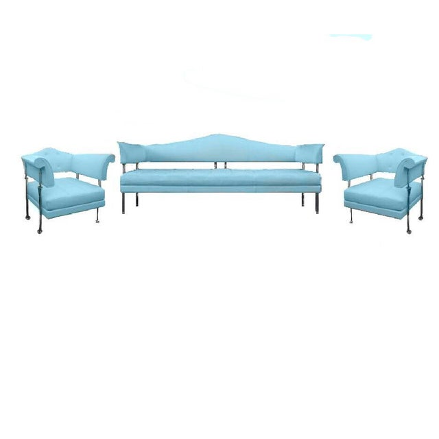 Poltrona Frau Hydra Enif Sofa Set by Luca Scacchetti in Atollo Pelle Frau Leather - Set of 3 - Image 2 of 6