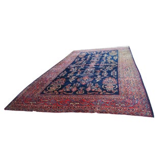 Antique Persian Hand Knotted Sarouk Wool Rug