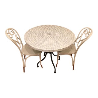 Fameg Polish Bentwood Chairs & Round Tile Top Table - Set of 3