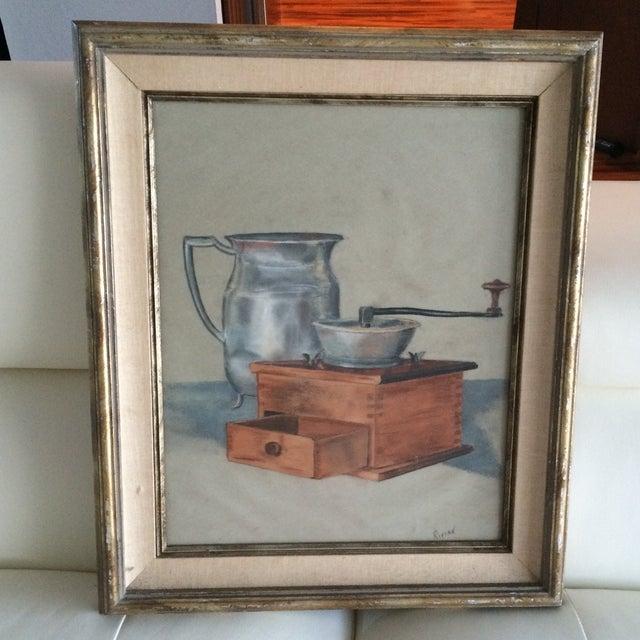 Vintage Original Pastel Still Life - Image 2 of 7