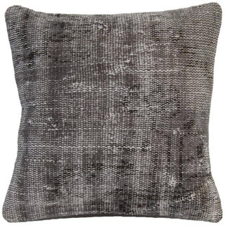 Vintage Gray Handmade Overdyed Pillow Cover