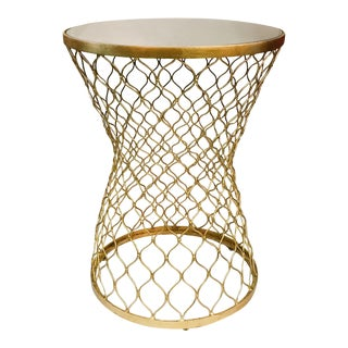 Matthew Williams Gold Moroccan Iron Fretwork Side Table