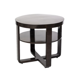 French Art Deco Gueridon Round Side Table