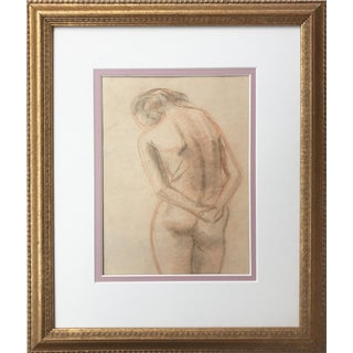 Vintage Pastel Drawing Study of a Nude
