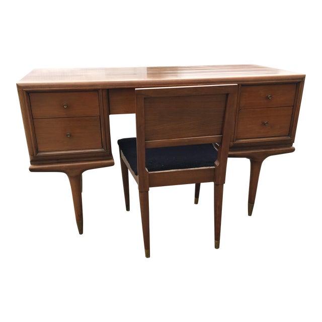 Mid-Century Kent Coffee Continental Walnut Desk - Image 1 of 7