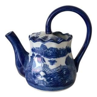 Blue & White Asian Teapot