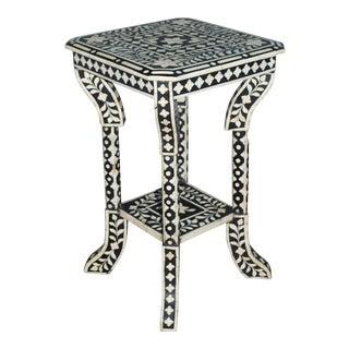 Indian Bone Inlay Side Table