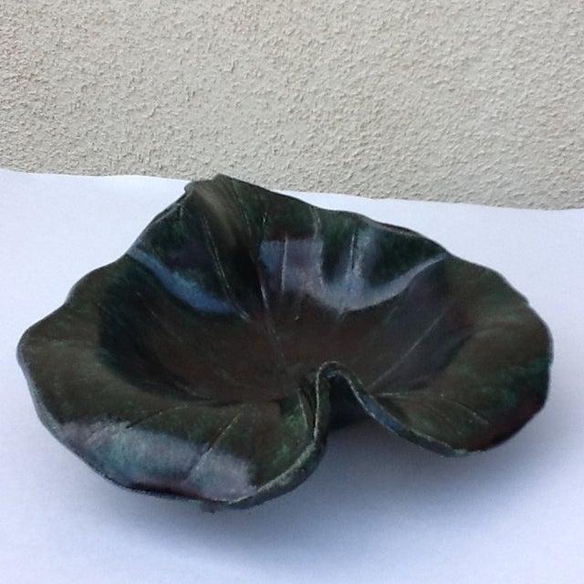 Vintage Studio Pottery Leaf Tray - Image 6 of 9