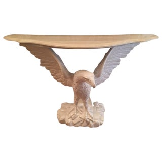 Eagle Console Table With Resin Top