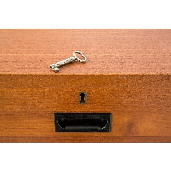 Danish Modern File Storage With 2 Tambour Doors - Image 6 of 6