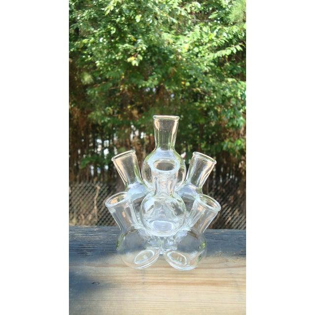 Image of Mid-Century Modern Glass Bottle Sculpture