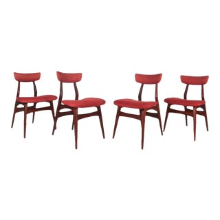 Set of Four Mid-Century Modern Dining Chairs by George Nelson for Herman Miller