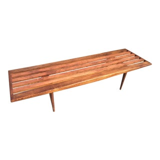 Mid-Century Danish Modern Slat Bench Coffee Table