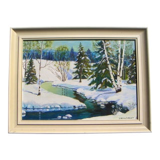 'Pennsylvania Snowscape' Oil Painting