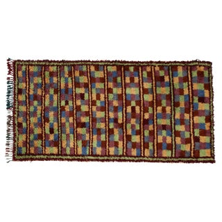 """Hand-Knotted Moroccan Rug - 4'9"""" x 9'"""
