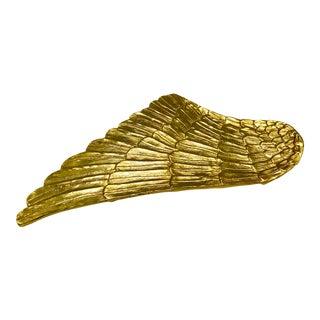Gilded Metal Gold Wing Serving Platter