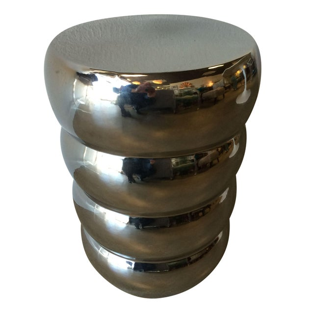 Image of Chromed Occasional Table/Stool