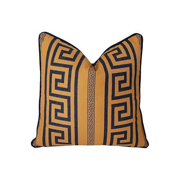 Designer Pierre Frey Greek Key Pillows - A Pair - Image 6 of 11