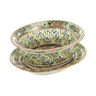 18th Century Antique Chinese Chin Fruit Basket