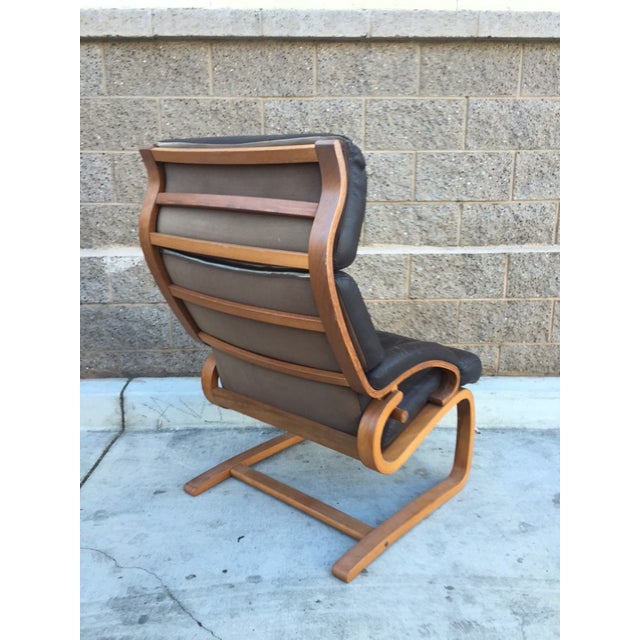 Norwegian Leather Tension Chair - Image 4 of 4