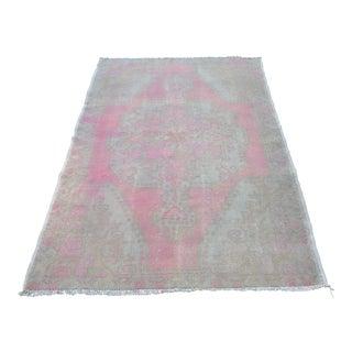 Turkish Antique Pink Rug - 4′3″ × 6′8″