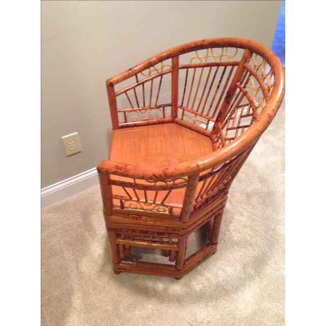 Chinese Chippendale Style Bamboo Chair - Image 7 of 8