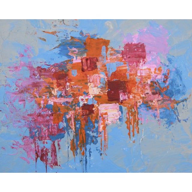 """C. Plowden """"Box Arrangement #4"""" Abstract Painting - Image 1 of 2"""