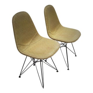 Eames Eiffel Wire Chairs - A Pair