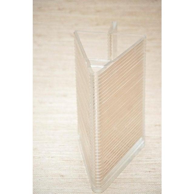 Circa 1970 Postmodern Triangular Lucite Pitcher - Image 3 of 6