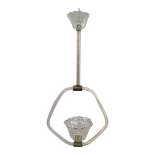 Barovier and Toso Brass Pendant Light