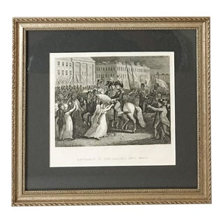 """Entrance of the Allies into Paris"" Framed Antique Bookplate"