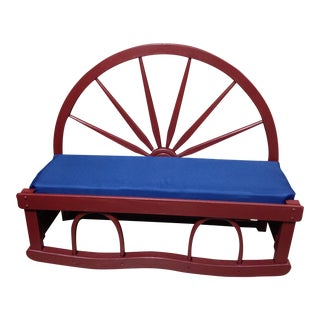 Early American Wagonwheel Bench