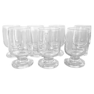 Mid-Century Clear Glass Shot/Cordial - Set of 6