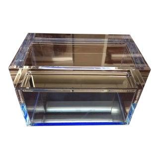 Alexandra Von Furstenberg Blue Lucite Treasure Box