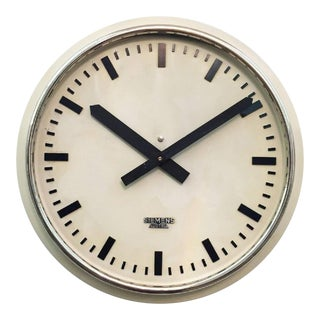 Austrian Factory Clock from Siemens, 1955