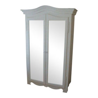 Grande French Mirrored Armoire
