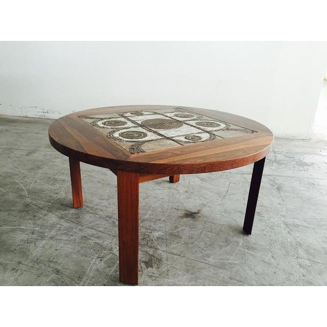 Vintage Danish Rosewood & Tile Top Coffee Table - Image 3 of 9