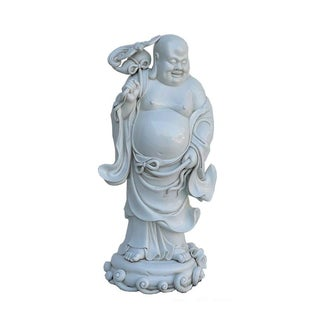 Chinese White Porcelain Happy Buddha Statue