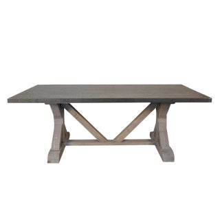 Noir X Base Table With Zinc Top Dining Table