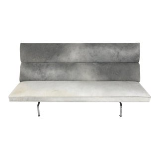Charles & Ray Eames for Herman Miller Compact Sofa in Salt & Pepper Cowhide