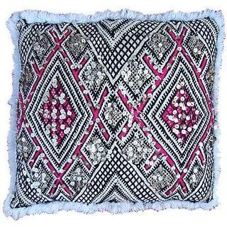 Pink & White Moroccan Sham