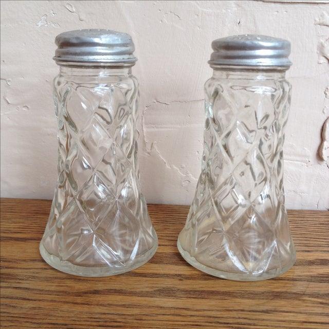 Glass Salt and Pepper Shakers w/ Aluminum Lids - Image 7 of 8