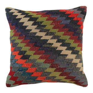 Vintage Turkish Handmade Kilim Pillow Cover