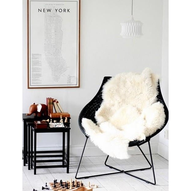Vintage New Zealand Sheepskin Rug or Throw - Image 5 of 5